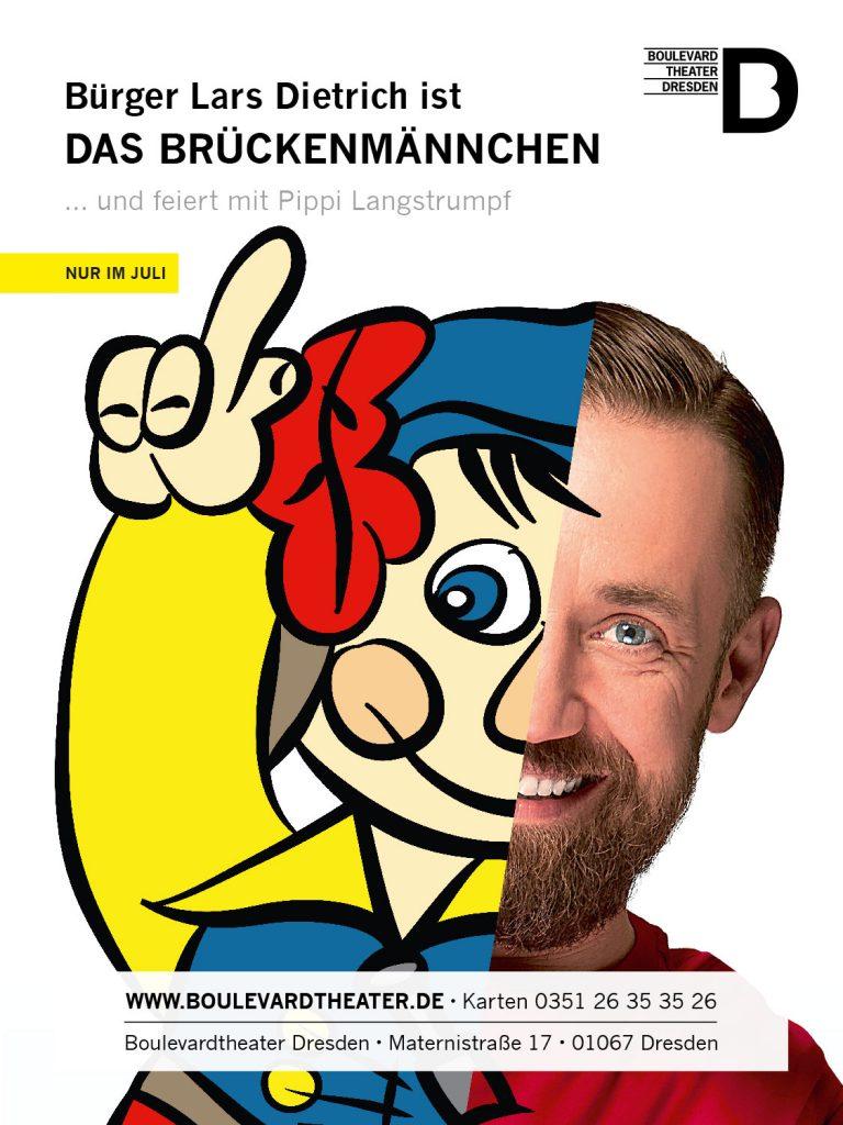 Bürger Lars Dietrich Brückemännchen Theater plakat