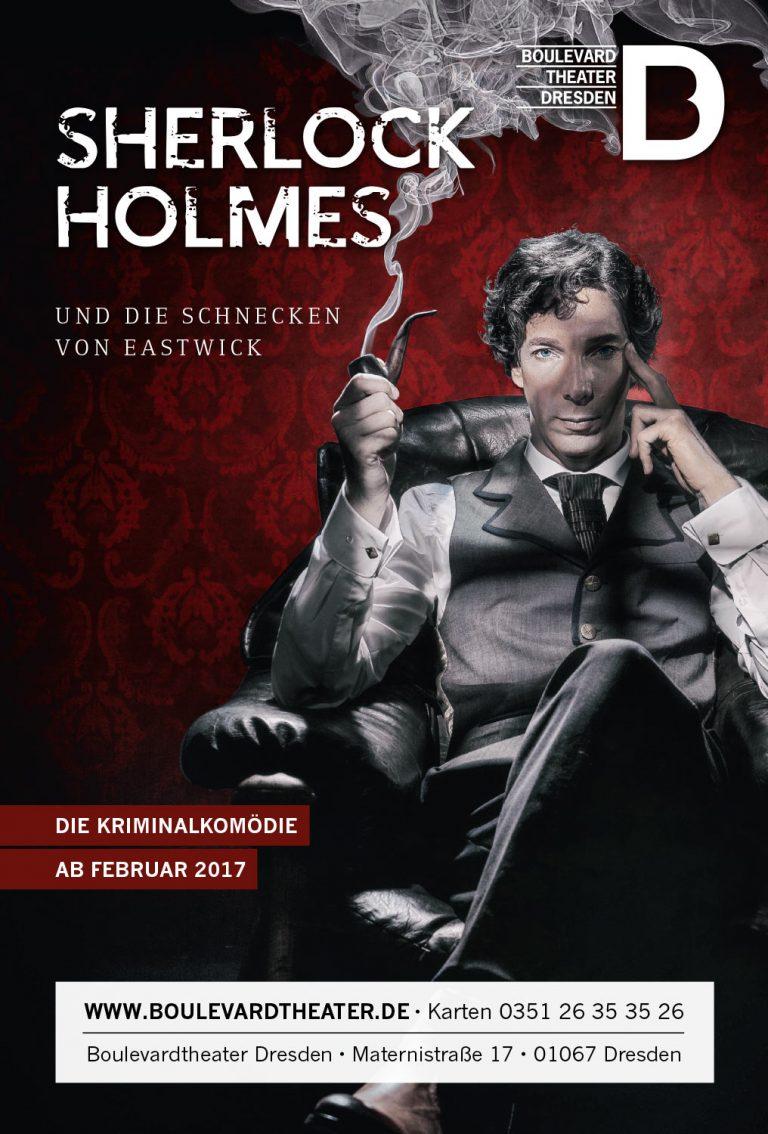 Sherlock Holmes Theater Plakat