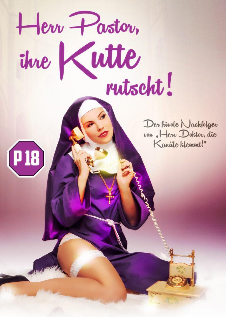 Herr Pastor Ihre Kutte rutscht Theater Plakat