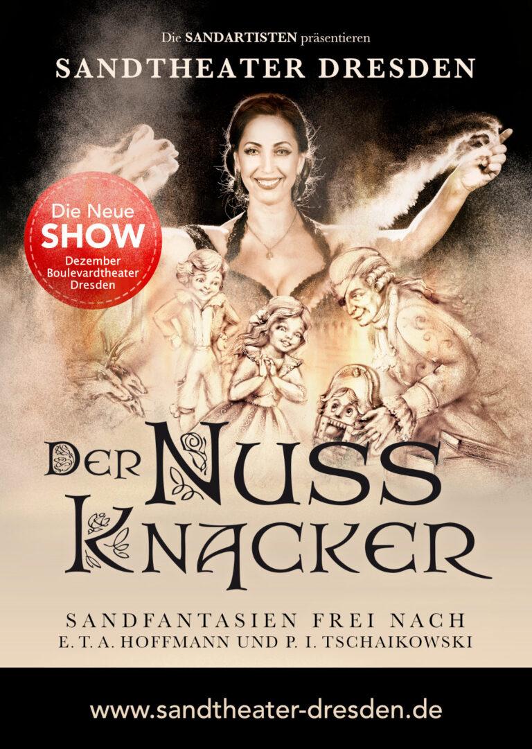 Sandtheater Nussknacker Artwork Poster Show Plakatgestaltung
