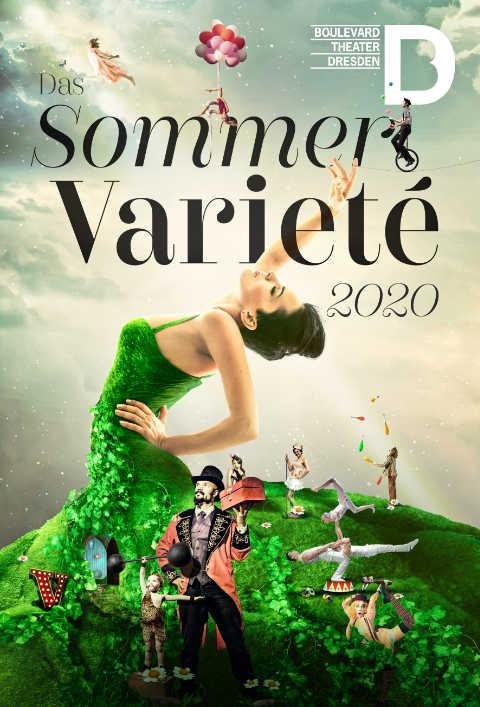 Sommer Varieté 2020, Boulevardtheater Dresden, Artwork, Plakat